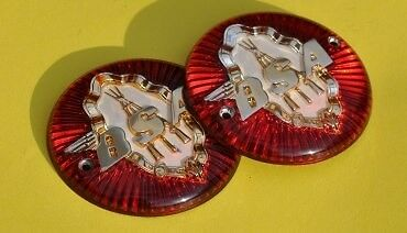 BSA Tank Badges with Logo/Piled Arms. 65-8220