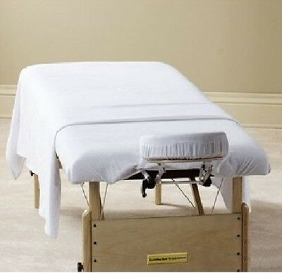 12 New White Massage Table Flat Draw Sheets Muslin T130 54X90