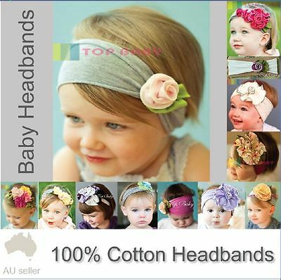 Baby Toddler Girl Cotton Flower Rose Headband