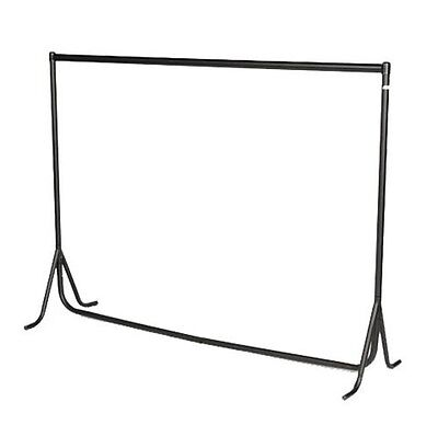 3ft|4ft|5ft|6ft HEAVY DUTY RAIL Clothes Garment Dress Hanging Display Rack Stand