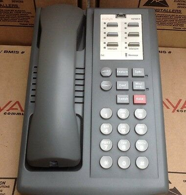 Avaya At&T Lucent Acs Partner 6 Euro Gray Phone W/Stand, Handset & Cords
