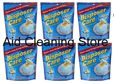 PACK OF 6 DISPOSER CARE WASTE DISPOSAL CLEANER FOAM GRUNGE AND ODOUR 4 x 35G