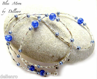 ✫Blue Moon✫ Handcrafted  Beaded Eyeglass Glasses Spectacles Chain Holder