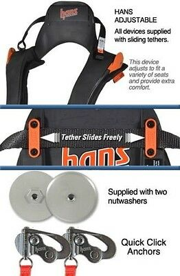 Large Adjustable Hans Device with Quick Click Sliding Tether-Simpson-Bell-Arai*