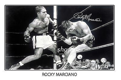 * ROCKY MARCIANO * Large autograph photo of boxing legend. Great MEMORABILIA!