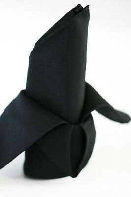 24  Black Restaurant Wedding Catering Dinner Cloth Linen Napkins 20X20