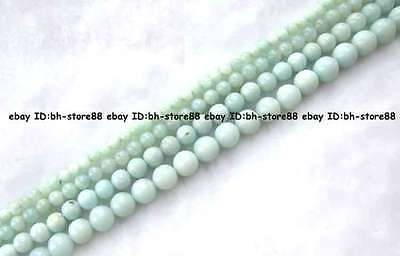 2,4,6,8,10,12,14,16,18,20mm natural Green Amazonite Round loose Beads 15''