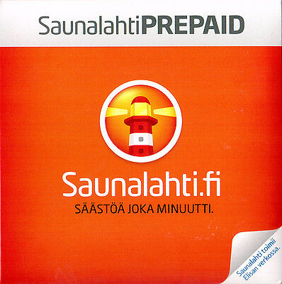Refill (recharge, top up) Saunalahti prepaid SIM 10 € 365 Days