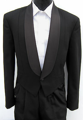 Black One Button Shawl Tuxedo Tailcoat Costume Theater Halloween Dracula 41XL