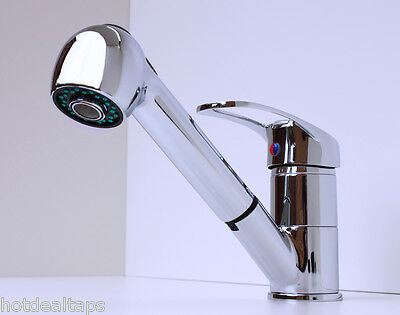 Modern Kitchen Sink Pull Out Mixer Tap FREE P&P (6010)