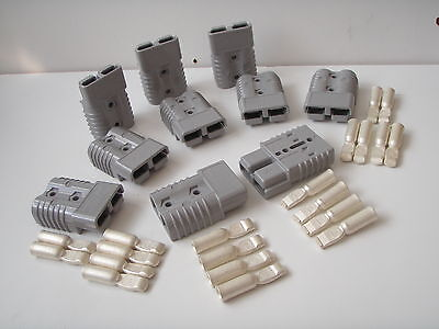 10 X Grey Genuine Sb 175 Amp Anderson Plug Battery Power Cable Connectors Bulk