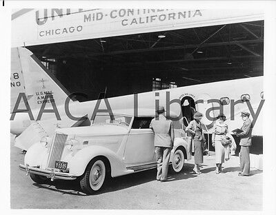 1936 Packard Convertible Sedan w/ United Airlines, Factory Photo (Ref. #61805)