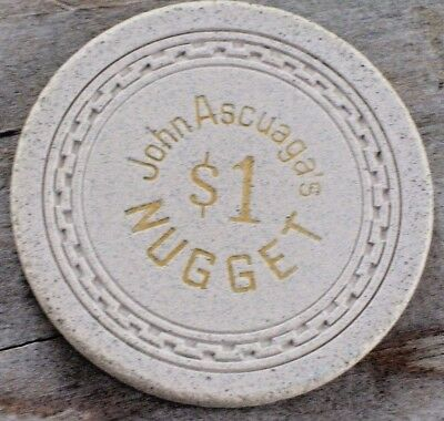 $1 1St Edt Gaming Chip Ascuaga's Nugget Casino, Sparks, Nv 1960