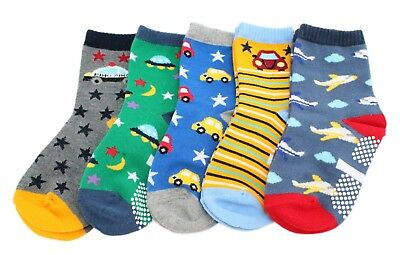 Boys Kids Children Toddlers 5 Pack Ankle Socks Cars Dinosaurs Age 3 4 5 6 7 8