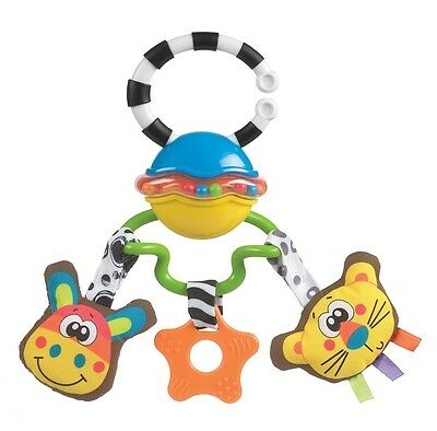 Brand New Playgro Safari Sounds Musical Tag Along Rattle 0m+