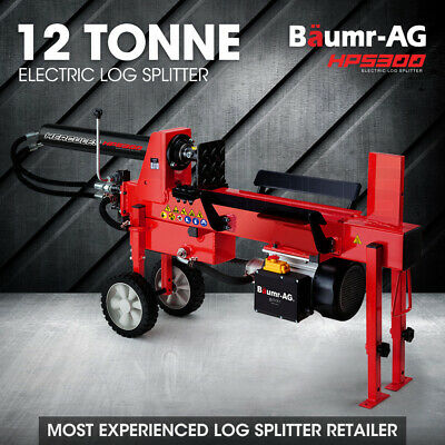 NEW BAUMR-AG Hydraulic Electric Log Splitter Wood Firewood Block Pump Cutter Axe
