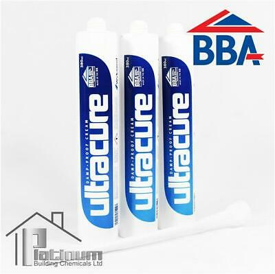 3 x ULTRACURE DAMP PROOFING CREAM (BBA APPROVED) DPC COURSE INJECTION TREATMENT