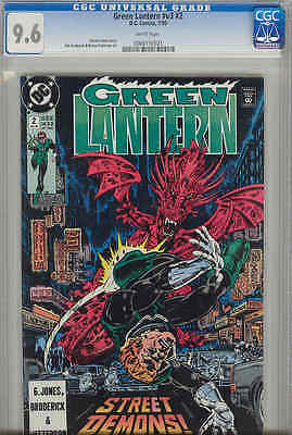 Green Lantern #V3 #2 CGC 9.6 1990 with Gerad Jones and a Dragon on Cover
