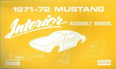1966 Ford Mustang Interior Assembly Manual Rebuild Instructions Illustrations