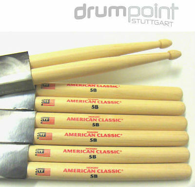 12 Paar original Vic Firth 5B VF5B American Classic Hickory Sticks NEU / TOP !!