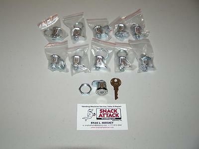 VENDSTAR 3000 #159 (10) TOP LID LOCKS & (1) KEY - New / Free 2-5 Day Ship!