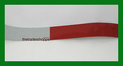 "CONSPICUITY Tape 11"" Red 7"" White 2"" X 18"" DOT Approved Reflective Reflector"