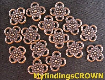 Free Ship 165 pieces bronze plated leaves connector 28x12mm #1789