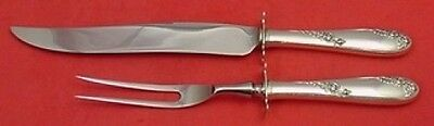 Sweetheart Rose by Lunt Sterling Silver Roast Carving Set 2pc