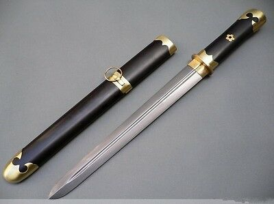 Damascus steel handmade blade Black wood scabbard Chinese sword of tang dynasty