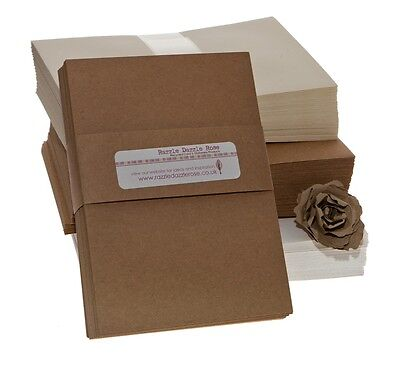 Kraft Recycled A6 Card 275gsm (50 pack) ideal for printing