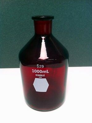 Kimble RAY-SORB Solution Bottle, Heavy Duty Wall, Narrow Mouth, Autoclaved