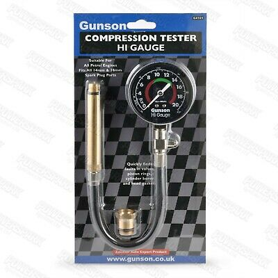 Gunson Hi Gauge Compression tester 2 piece tool engine tools