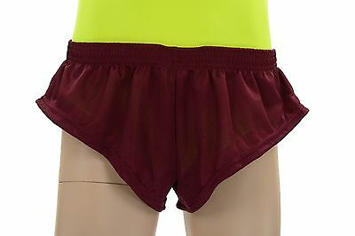 Mens Sheer Fluro Lime//Yellow Polyester Booty Shorts Jogging Running Sprinting