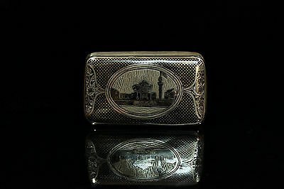 Antique Original Silver Niello Ottoman Cigarette Case