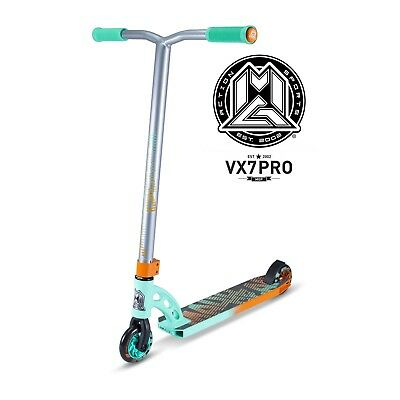 New 2017 Madd Gear Mgp Vx7 Pro Complete Kids Scooter Teal/orange - Free Shipping
