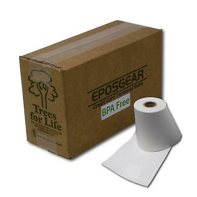 100 JUST EAT Takeaway Compatible BPA FREE Thermal Paper Receipt Rolls - 57 x 40