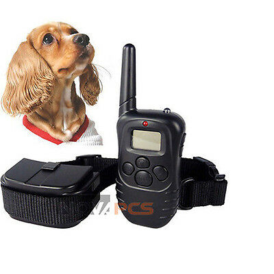 NEW LCD 100LV Level Shock Vibration Remote Pet Dog Training Collar For 10-130lb