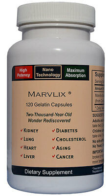 Elixir Industry Marvlix Cordyceps Sinensis Mushroom Immune, Heart, Lung 120 Caps