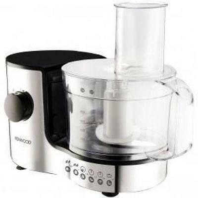 Kenwood FP126 Food Processor 0.8 Litre Stainless Blades 300w New Polished Chrome