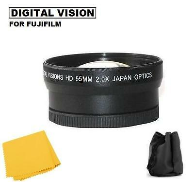 52mm 2X Tlephoto Lens for Fuji Finepix S5600 S5500 S5200 S5100 S5000 S3100 S3000