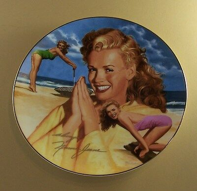 HER DAY IN THE SUN Marilyn Monroe Plate Remembering Norma Jeane + COA Sizzling!