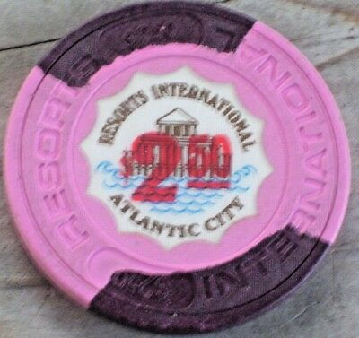 $2.50 2Nd Edt Casino Chip From Resorts International A C