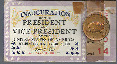"""1949""""INAUGURATION OF THE PRESIDENT AND VICE PRESIDENT TICKET TRUMAN/BARKLEY"""
