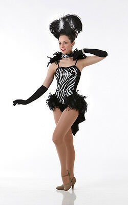 ONE IN A MILLION Ice Skating w/Mitts Showgirl Theater Dance Costume Child Sizes