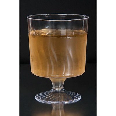 5.5 oz. Clear Plastic Wine Cup - 1 Piece 240 / CS  - FAST  Shipping  !!