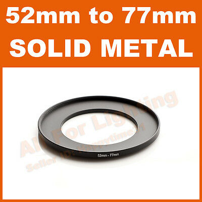 52-77 52mm to 77mm Metal Step Up Step-Up Ring for Lens Filter Stepping Macro