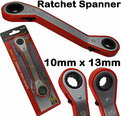 NEILSEN - OFFSET RATCHET RING SPANNER 10mm x 13mm Switchable Ratchet Wrench