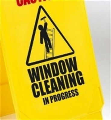 """Caution Window Cleaning"" Folding Safety Sign - Pack of 5"