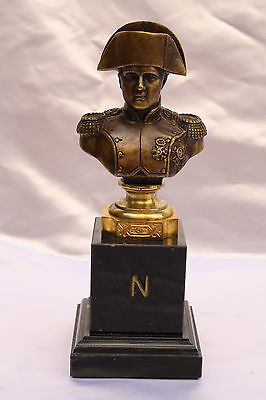 Magnificent 19C French Bronze Napoleon On Marble