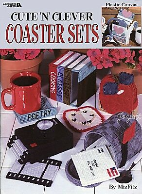 Cute 'n' Clever Coaster Sets plastic canvas patterns